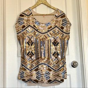 Gibson & Latimer Sequin TopSize Large